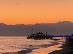 Sunset at Antalya Beach